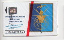 TELECARTE PHONECARD FRANCE 50 U NSB LES TRANSMISSIONS L'ARME Armée De Terre - Francia