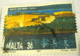 Malta 1991 Sur Ta' San Mikiel Valletta 3c - Used