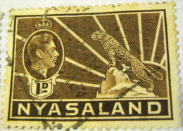 Nyasaland 1938 King George VI And Symbol Of The Protectorate 1d - Used - Nyasaland (1907-1953)