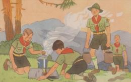 SCOUTISME  SCOUTISMO BOY SCOUT  ILLUSTRATION ILLUSTRATEUR 1937  TRES BON ETAT ! ! ! - Scoutisme