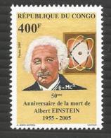 Congo 2005 Albert Einstein Nobel Prize Laureate Physics Mint Stamp - Congo - Brazzaville