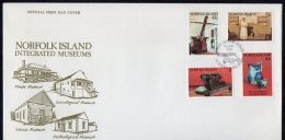 Norfolk Island 1991 Integrated Museums FDC - Norfolk Island