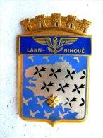 INSIGNE EMAILLE DE LA BAN BASE AERONAVALE DE LANN BIHOUE ETAT EXCELLENT DRAGO PARIS