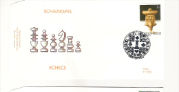Belgique: FDC du 18/03/1995  7600 Peruwelz  n� 2593: Schaakpel -  Echecs