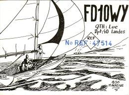Amateur Radio QSL Card France FD1OWY Sail Boat Yacht - Radio Amateur