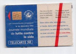 TELECARTE PHONECARD FRANCE 50 U NSB Lutte Contre Le Sida - France
