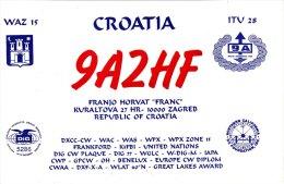 Amateur Radio QSL Card Croatia 9A2HF Zagreb - Radio Amateur