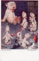 [DC8854] BONZO - THE ART SCHOOL - DIE MALSCHULE - SERIE XXI 2- Original Old Postcard - Chiens