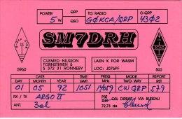 Amateur Radio QSL Card Sweden SM7DRH Ronneby - Radio Amateur