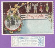 PARIS Exposition 1900  CPA + Son Passe Partout  JARDIN De La CHANSON  Silhouettes PIERROT Danseuses Mandoline - Expositions