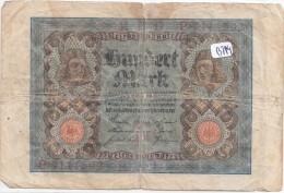 Billets - B914 -  Allemagne   - Billet 100 Mark 1920  ( Type, Nature, Valeur, état... Voir 2scans) - [ 3] 1918-1933 : Weimar Republic