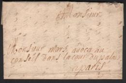 Famille MARS 1729 Lettre Ancien Régime à Mars Avocat Au Conseil Dans La Cour Du Palais à Paris Gentillet - Historical Documents
