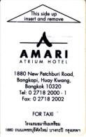 THAILAND - Amari, Hotel Keycard, Used - Hotelkarten