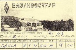 Amateur Radio QSL Card Spain HB9CYF Tarragona - Radio Amateur