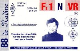 Amateur Radio QSL Card France FE1NVR Cucuron Bressier - Radio Amateur