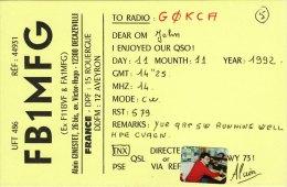 Amateur Radio QSL Card France FB1MFG Decazeville Ginestet - Radio Amateur
