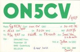 Amateur Radio QSL Card Belgium ON5CV Oudenburg - Radio Amateur