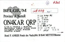 Amateur Radio QSL Card Belgium ON4KAR Mettet - Radio Amateur