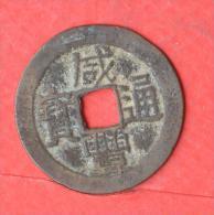 CHINE  1  CHASH  YEAR 1851 -1861   Wen Zong Imperator -  Qing - DINASTY   (Nº02557) - Monnaies & Billets