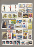 WORLDWIDE MONDE WELT Modern Used (o) Stamps Lot On Paper #16961 - Timbres