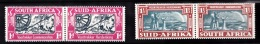 South Africa, 1938, SG 80 - 81, Complete Set Of 2 Mint Hinged Pairs - South Africa (...-1961)