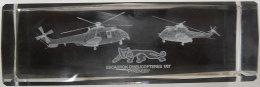 """Magnifique Plexi-glace Escadron D'helicopteres 1/67 """"pyrénées"""" Base Lacanau Inclusion 15x4.8x4.8cms Aviation - Aviation"""