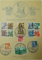 Baden 1948 Meersburger Droste-Tage 23-26 Mai Série De 13 Timbres Obltérés Druck: J.Kuttruff,Konstanz - [7] République Fédérale