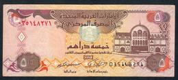 U.A.E.  P19e   5  DIRHAMS   2009     VF   NO P.h. ! - Emirats Arabes Unis