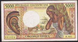 CENTRAL AFRICAN REPUBLIC P12b  5000 FRANCS   1984 Signature 14 VF   NO P.h. ! ! - Centraal-Afrikaanse Republiek
