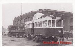 Tram Photo Leeds Corporation Car 602 VAMBAC Tramway Tramcar Low Loader - Trains