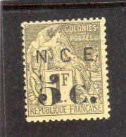 Nouvelle Calédone:année1886 Surchargé N°9 Neuf - New Caledonia