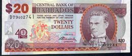 BARBADOS   P72   20  DOLLARS  2012    UNC. - Barbades