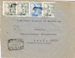 3861. Carta Certificada TOLEDO 1942. EXENTA De CENSURA - 1931-Aujourd'hui: II. République - ....Juan Carlos I