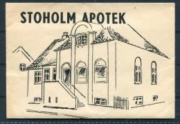 Denmark Stoholm Apotek Chemist Advertising Envelope - Invoices & Commercial Documents