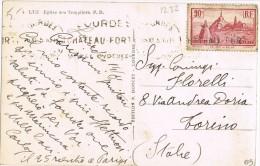 3868. Postal LOURDES 1951. Vista De LUZ, Eglise Des Templaires - Francia