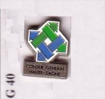 G40 Pin´s  Conseil Général HAUTE SAONE Achat Immédiat - Cities