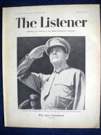 The LISTENER #867 Aug1945 ENGLAND King´s Victory Message, Holland/ Radar Appleton/ JAPAN Surrender/ USA Guerre War Krieg - Armée/ Guerre