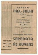 BEJA ♦ TEATRO PAX JULIA ♦ 13.12.1947 ♦ SERENATA ÀS NUVENS ♦ PORTUGAL ♦ 3 SCANS - Programs