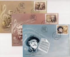 Serbia 2013. Art Music FDC Set Verdi Danon Wagner - Music