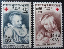 France - La Réunion 1965 - Paire YT 366/367 Neuf* /Charnière - Croix Rouge - Œuvres De Renoir - Ungebraucht