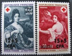 France - La Réunion 1968 - Paire YT 381/382 Neuf* /Charnière - Croix Rouge - Œuvres De Mignard - Ungebraucht