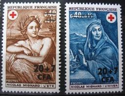 France - La Réunion 1969 - Paire YT 388/389 Neuf* /Charnière - Croix Rouge - Œuvres De Mignard - Ungebraucht
