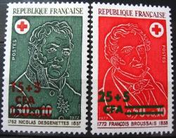 France - La Réunion 1972 - Paire YT 412/413 Neuf* /Charnière - Croix Rouge - Desgenettes Broussais - Ungebraucht