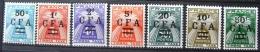 Taxe - France - La Réunion 1949/50 - Lot 7 Timbres Taxes Neuf* /Charnière - YT TA 37 à 39 & 41 à 44 - Portomarken