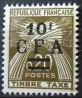 Taxe - France - La Réunion 1962/64 - YT TA 46 Neuf* /Charnière - 10 Fr / 20c Brun Olive - Portomarken