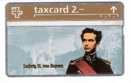 Schweiz  - Die Goldenen Königskarten - Ludwig II Von Bayern  - 2,- PTT - 303L - Mint - Schweiz