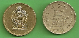 Sri Lanka Five Rupees Coin - Fine Used - Sri Lanka