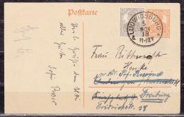 P 110 + ZF Germania, Ludwigsburg Nach Endingen, Weitergeleitet Freiburg 1918 (40229) - Entiers Postaux
