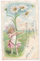 Vintage Original Postcard Girl With Flowers Valentine's Day Cpa Ak (W3_1923) - Saint-Valentin
