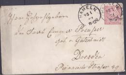 North German Conf.1871(postal Stat.)U1  Hameln To Dresden - North German Conf.